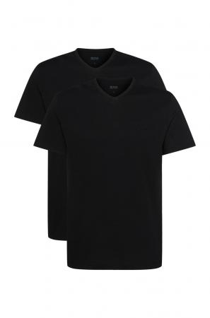 t-shirt με V σε 2άδα HUGO BOSS T-Shirt VN 2P CO 50325401_001