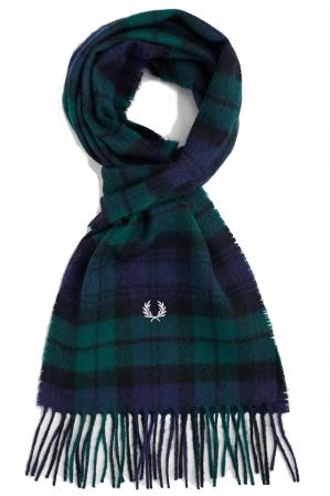 κασκόλ FRED PERRY Black Watch Tartan Scarf C2113_426