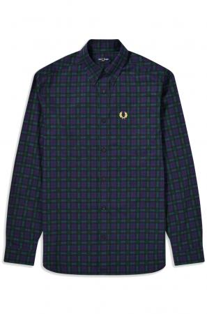 πουκάμισο FRED PERRY Winter Tartan Shirt Carbon Blue M9509_266